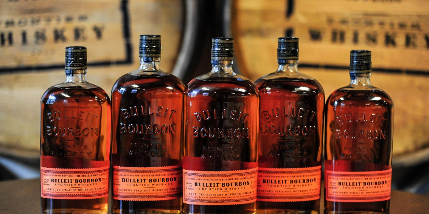 Bulleit Bourbon Bottles