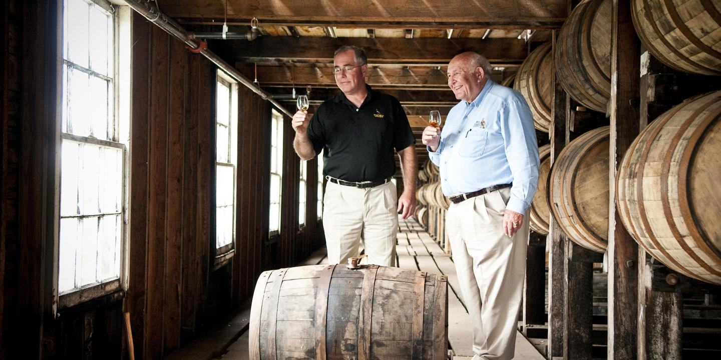 Jimmy and Eddie Russell in Wild Turkey Warehouse